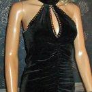New Victoria's Secret Black Velvet Sleeveless Club Evening Cocktail Dress Small 190911