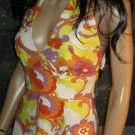 Victoria's Secret $89 Orange & Yellow Easter Halter Sun Dress Size 4  182128
