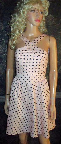 Victoria's Secret $108 Pink Polka Dot Sleeveless Sun Dress 0 296773
