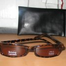 Kenneth Cole Rectangular Tortoise Shell Sunglasses With Soft Black Monogrammed Case 012205
