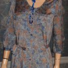Victoria's Secret $99 Blue Snake Shirt Dress Medium 286114