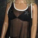 NWT Baja Blue $69 Black Mesh Swimsuit Cover-up Dress Small 66928