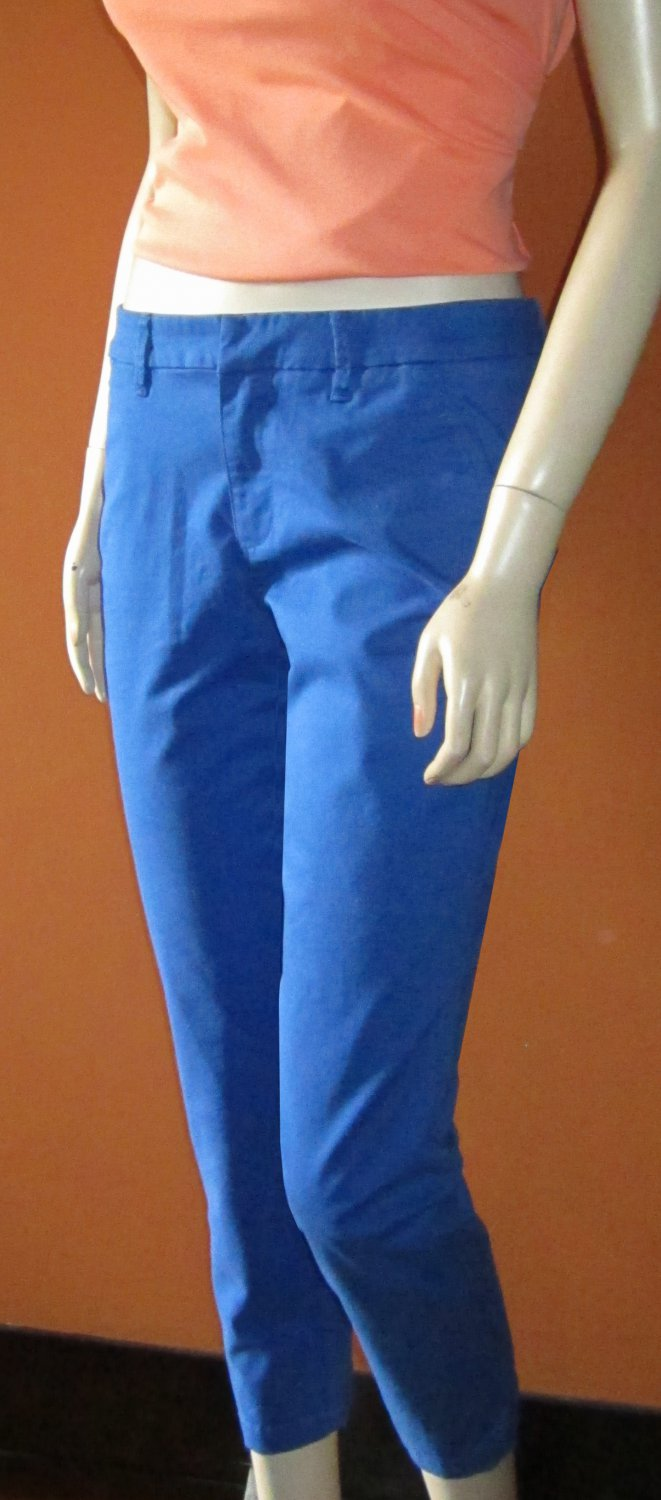 Victoria's Secret $59 Blue Twill Chino Cropped Pant 4 296540 296450