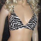 Victoria's Secret $54 Push-up Black & White Halter Bikini Medium  228419