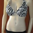 Victoria's Secret $82 Forever Sexy Black & White Push-Up 38C Large Bikini   281175