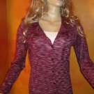 NWT Ann Taylor $65 Purple Cardigan Sweater Top Medium 809429