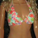 Victoria's Secret $93 Underwire Push-Up Halter Harlow 36C Small Bikini 307653 292545