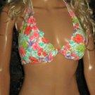 Victoria's Secret $93 Underwire Push-Up Halter Harlow 36C Small Bikini 307653 292545