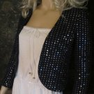 Victoria's Secret $149 Dark Blue Sequin Beaded Jacket Blazer 0 291062