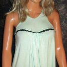 Victoria's Secret Underwire Padded Bratop Pale Green Halter Top 34D Small Medium  304770