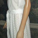 Victoria's Secret $128 Woven Strapless Eyelet White Jumpsuit Cover-Up XS  300746