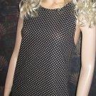 Victoria Secret $38 Black & White Sleeveless Tunic Top Large 302725