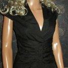 Victoria's Secret Cap Sleeve Black Corset Shirt Blouse Size 2 272568