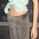 NWT Banana Republic $89 Grey Wide Leg Cord Cuff Jeans 6 691028