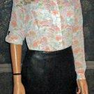 NWT Jacqueline Ferror $298 Black Leather Pencil Skirt 8P393677