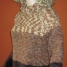 NWT $79 Liz Claiborne Turtleneck Brown Khaki Wool Sweater Large 923678