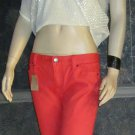 NWT J. Crew $90 Women's Orange Toothpick Ankle Jeans 14 95887