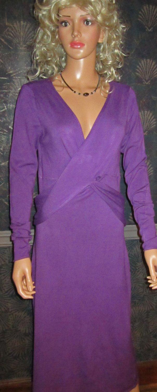 Victoria�s Secret Long Sleeve Purple Mid Calf Sweaterdress Medium  219280