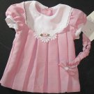 NWT Youngland $20 Pink Rose Dress with Headband Size 6 Months  654312