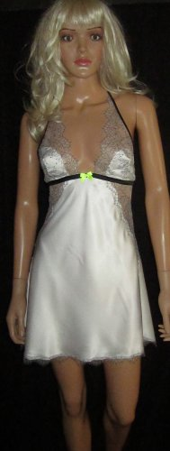 Victoria's Secret Ivory White Bridal Slip Nightgown Size Large 309367