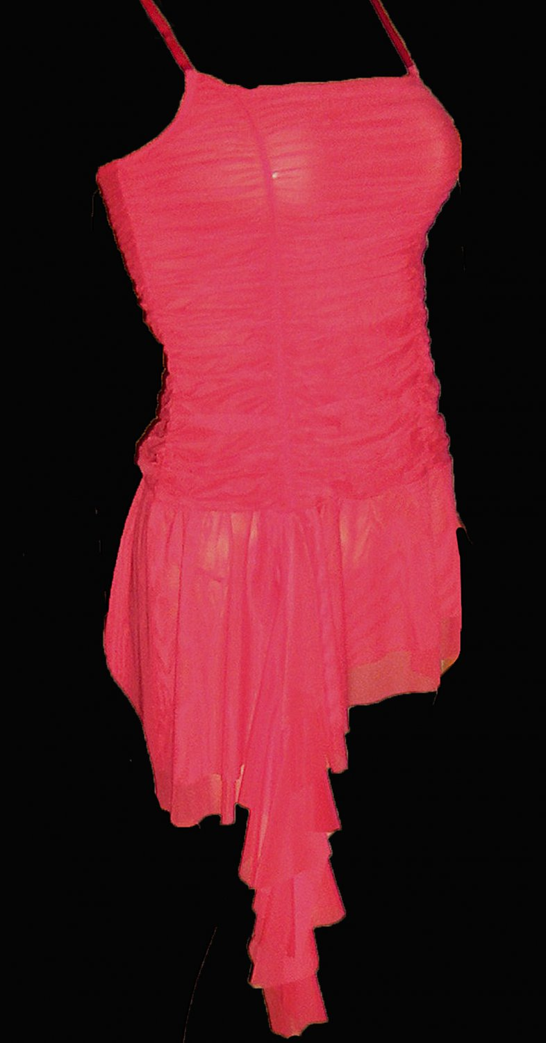 Victoria's Secret Sexy $48 Ruched Red Babydoll Nightgown Small 180542