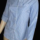 Victoria's Secret Long Sleeve Cuffed Blue & White Pinstripe Shirt 2  231572