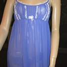 Victoria's Secret $49 Purple Orchid Chiffon Babydoll Nightgown Set Medium 161206