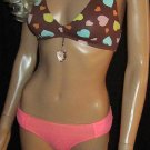 Victoria's Secret Dangling Crystal Heart Bikini XS Small 197378 301705