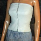 Victoria's Secret $45 Drawstring Waist Light Denim Cargo Blue Jean Shorts 4 183206