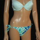 Victoria's Secret Sexy Mara Push-up Mint & Blue Tye Die Bikini 34C Small 292939 X4