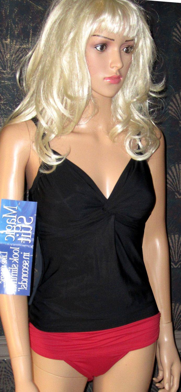 NWT Victoria's Secret $100 MagicSuit Black Tankini Top 8 248685