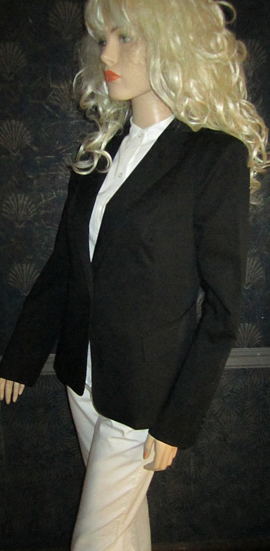 Victoria's Secret $105 Stretch Cotton Fitted Black Career Jacket Blazer 12  282458