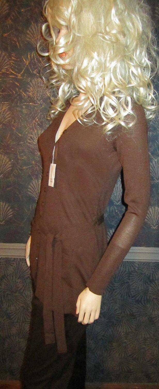 Victoria's Secret $58 Brown Merino Wool Cardigan Sweater Small 200937