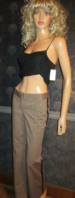 Victoria�s Secret $88 Christie Fit Leather Trim Pants 4  186058