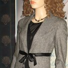 Victoria's Secret $148 Belted Herringbone Wool Black Blazer 2 187560