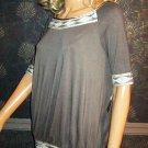 Victoria's Secret Kanika Kruz Indian Beaded Grey Mini Dress XS 195312