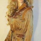 Victoria's Secret $148 Belted Bronze Jacket Blazer 6  192640