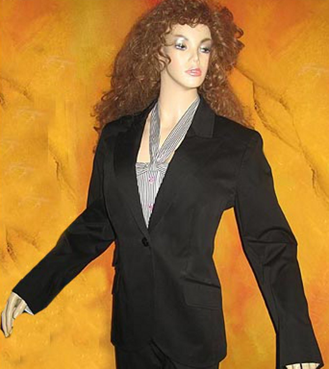 Victoria�s Secret $128 Black Stretch Cotton Jacket Blazer Size 0 201757