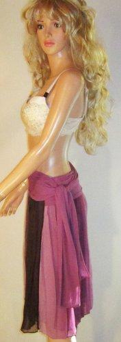 Victoria's Secret $60 Silk Below The Knee Sarong Purple Skirt 4 185065