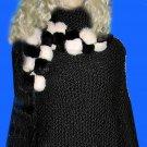 Victoria's Secret Long Black Poncho Cape Small XS  166869