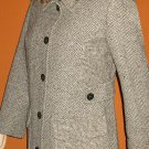 Victoria's Secret Herringbone Gray & White Wool Coat 10 Petite  201751