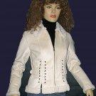 Victoria's Secret White Suede Lace-up Faux Shearling Jacket Size XS 205672