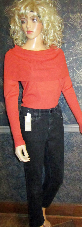 NWT Style & Co. Black Mid-Rise Studded Slim Leg Black Denim Jeans Size 4  623901