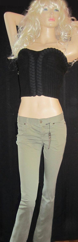 Victoria's Secret Pale Green Pencil Skinny Stretch Cotton Pants Jeans Size 2  260342