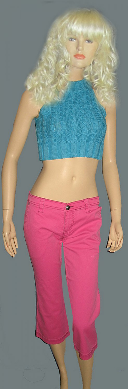 NWT BCBG Girls Hot Pink Cropped Pants size 6 239104