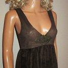 Victoria's Secret Brown Lace Cami Babydoll Tank Top Medium 194847