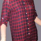 Victoria's Secret Red Plaid Boyfriend Shirt Top XS Small 259760