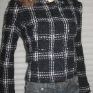 Victoria's Secret Black & White Check Blazer Jacket Size 4 176659