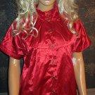 Sharagano Paris $89 Fully Lined Red Short Sleeve Shirt Small  97015