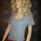 Victoria's Secret Scoop Neck Blue Short Sleeve Tee Top Size Large  131944